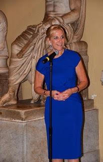 Robin stood giving a speech at The Vatican whilst on a Tauck Roman Holiday in October 2012